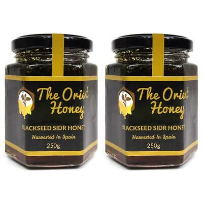 2 x 250g Black Seed Sidr Honey Top Quality 100% Authentic Royal Raw No Chemicals