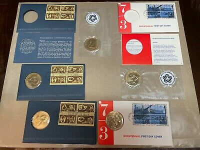 Lot of 15 Commemorative: 8 US Mint Coin Sets (White House, etc) and 7 Medals
