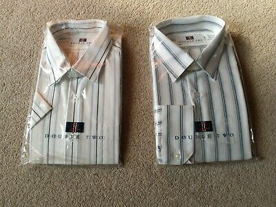 Mens shirts of Double Two x2   Colllar 16/1/2,  42cm one long sleeve one short