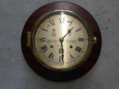Sewills Ships Bell Clock. Vintage. Christmas! Spares or Repairs needs service!