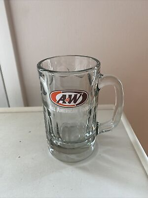 A & W All American Food Glass Mug 16 oz