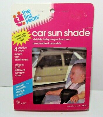 "The First Years Car Sun Shade Baby Safety & Health 13"" x 14"" New"