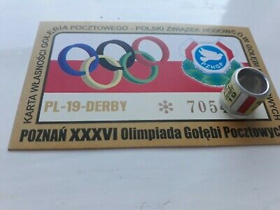 PL 2019 DERBY OLYMPIC  pigeon ring with card