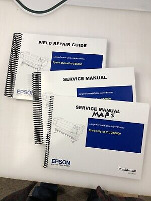 EPSON GS6000 Large Format Printer  English Service Manual And Field Repair Guide