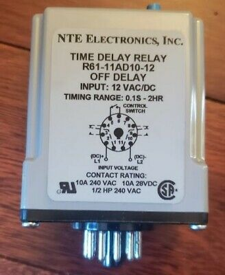 R61-11AD10-12 Time Delay Relay