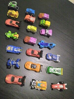 Kinder Egg Surprise lot of 21 Plastic Toy Cars Miniature Figures Complete