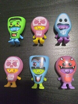 Kinder Surprise Joy Glow In The Dark Lot Of 6 Masked Monsters Halloween