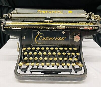 Rare Antique Continental Large Carriage Typewriter - No Reserve