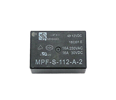 1Pcs MEISHUO MPF-S-112-A-2 Power Relays 12VDC 16A 250VAC 4Pin
