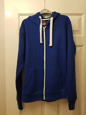 Boys Blue Hooded Tracksuit Top XL Approx Age 12-14 Years