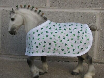 BLANKET fits Traditional Breyer Clydesdale stallion model horse ST PATRICK'S DAY