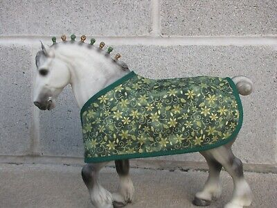BLANKET fit Traditional Breyer Clydesdale stallion model horse CHRISTMAS holiday
