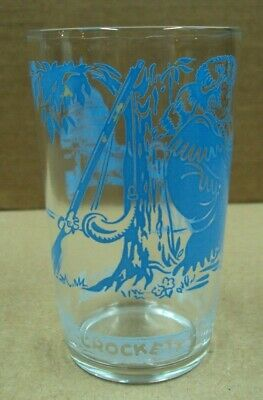 Vtg 8 oz Juice Jelly Glass DAVY CROCKETT Had a Creed That Said Be Sure...