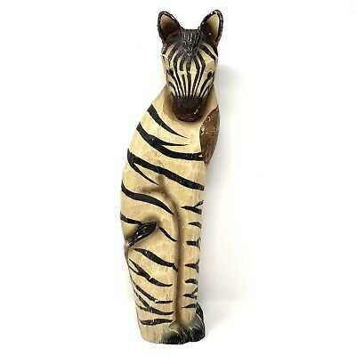 James Haddon Signed Collection Zebra Handpainted Hand Carved Wood Philippines
