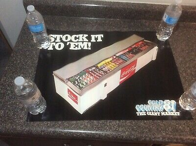 """Vintage 1981 Coca Cola Training Poster New Old Stock """"Stock it to Em"""""""