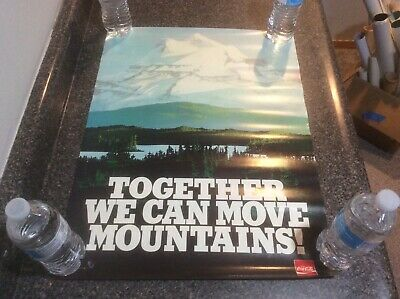 Vintage 1981 Coca Cola Training Poster New Old Stock Move Mountains