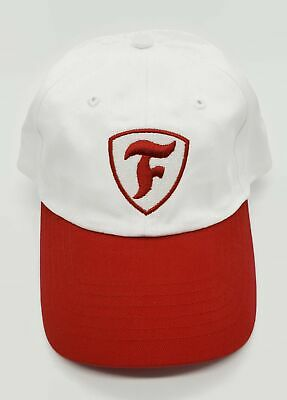 Firestone Hat Baseball Cap F Logo White And Red Hook & Loop Adjustable
