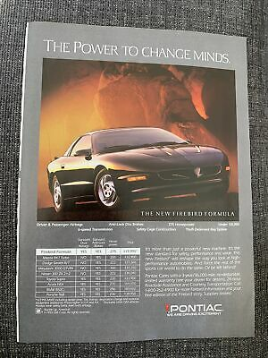 1994 Pontiac Firebird Formula Ad The Power To Change Minds