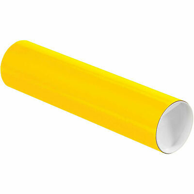 """Mailing Tube With Cap, 12""""L x 3"""" Dia., Yellow"""
