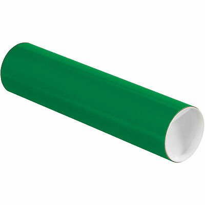 """Mailing Tube With Cap, 12""""L x 3"""" Dia., Green"""