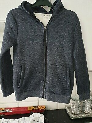 Primark Boys Blue Zipped Front Hoody Age 11-12yrs
