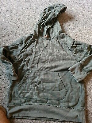 marks and spencer age  boys 9-10 khaki surf board hoody/hooded top