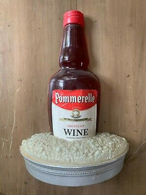 Beautiful & Rare 40's-50's Retail Wine Display Item: Pommerelle Wine Lamp