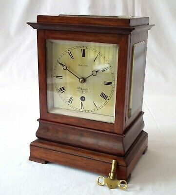 ANTIQUE 5 glass LIBRARY CLOCK - Fusee movement