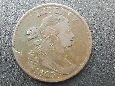 1803 Draped Bust, Large Cent. Small Date, Large Fraction.