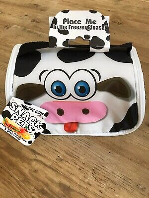 Snack Pets - Freezable Lunch Bag & Place Mat - Milky The Cow - Gift - Brand New