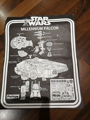 Star Wars PALITOY Millennium Falcon Original Instructions Great Condition