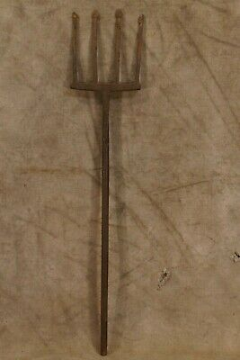 Antique Harpoon Spear Fishing Wrought Iron Spear Head