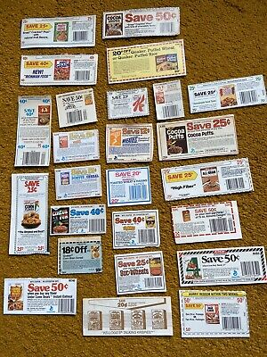 25 Vintage Cereal Coupons Kellogg's General Mills, etc. No Exp. Dates