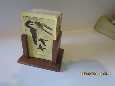 2 Vintage decks  playing cards  R. H. Palenske - geese and fish in wood holder