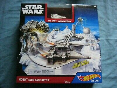 Hot Wheels Star Wars Die Cast Snow Speeder Echo Base Battle New In Box