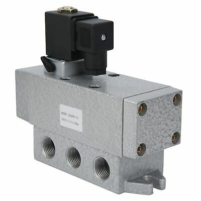 Electric Solenoid Valve 2 Position 4 Way Single Control Directional Alum
