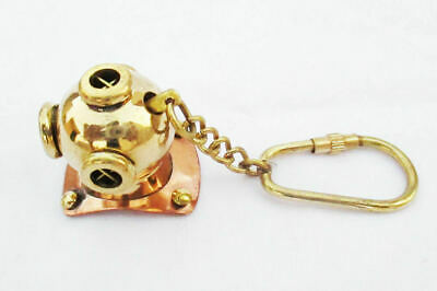 Brass Mini Diving Helmet Keychain Nautical Divers Keyring