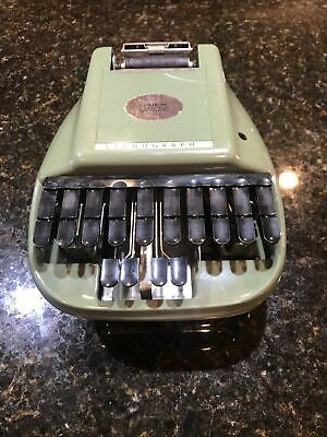 Vintage Retro Green Stenograph Reporter Model Shorthand Machine