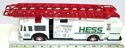 Hess Truck - Toy Fire Truck 1989 - With Dual Sound Horn, Ladder & Bank