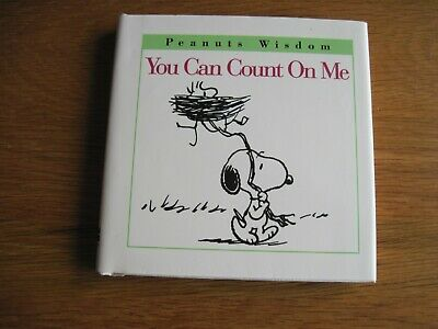 """Snoopy / Peanuts Vintage You Can Count On Me  4"""" X 4"""""""