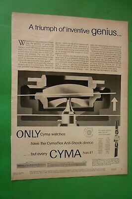 1955 Original Advertising' Watch Cyma Genius Switzerland No Rolex