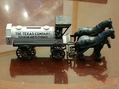 Texaco Marketplace - Horse Drawn Tanker Coin Bank. Diecast Limited Edition.