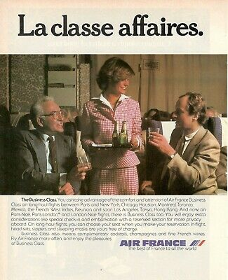 1979 Original Advertising' Air France Company Aerial The Class Business