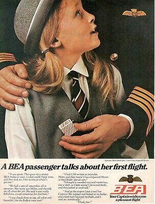 1969 Original Advertising 'Bea British European Airways Minor