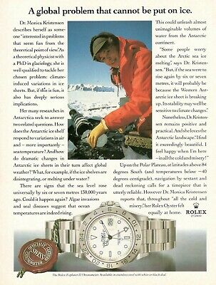Original Advertising' Rolex Watch Explorer II Chronometer Monica Kristensen