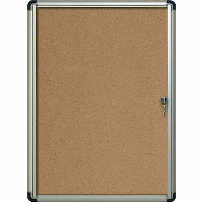 "MasterVision H2O Outdoor Cork Bulletin Enclosed Board, 26""W x 30""H"
