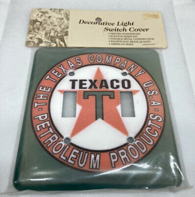 Texaco Petroleum Products Double Light Switch Plate