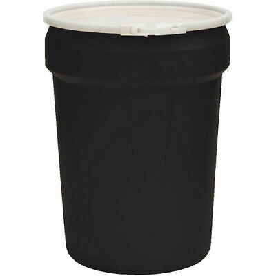 Eagle Plastic Lab Pack Drum with Plastic Lever Lock & Lid, Open Head, 30 Gallon,