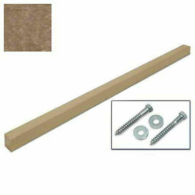 "United Visual Products 4""W x 4""D x 96""H Single Weathered Wood Post and Hardware"