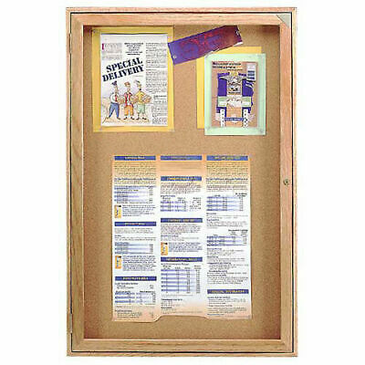 "United Visual Products Bulletin Board One Door, 24""W x 36""H"